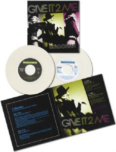 "4 MINUTES / GIVE IT 2 ME - WHITE VINYL USA 7"" VINYL DOUBLE PACK"